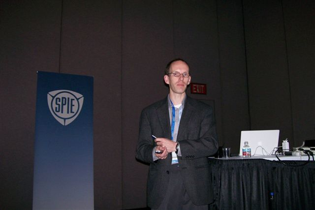 Del Mar Photonics featured customer Gerhard Paulus presenting a talk at Photonics West 2007