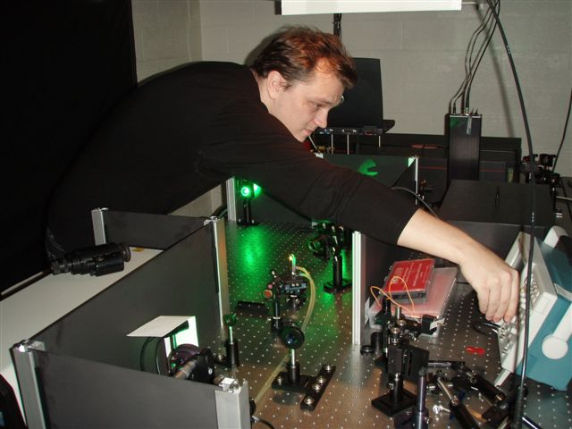 Project Leader on Amplified Femtosecond Ti:Sapphire Systems Sergey Tenyakov optimizing Ti:Sapphire Multipass Amplifier